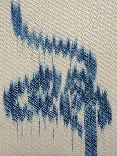 detail silk sett at undulating twill painted warp (ProChem blue Painted Warp, Hand Painted, Loom Weaving, Hand Weaving, Yarn Inspiration, Fabric Manipulation, Hand Dyed Yarn, Weaving Techniques, Shibori