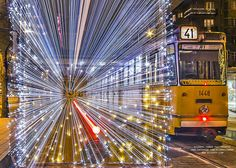 30,000 LED Lights Make The Trams In Budapest Look Like Time Machines | Rizsavi Tamas