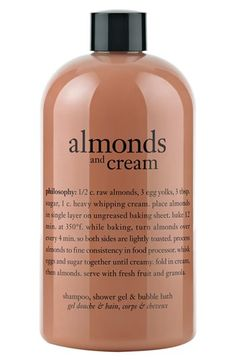 philosophy 'almonds & cream' shampoo, shower gel & bubble bath available at #Nordstrom