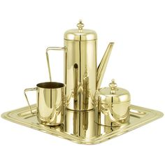 1stdibs.com | Classic Modern Silver Plate Coffee Service With Tray