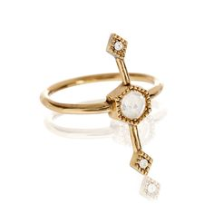 PRE-ORDER//FULL BLOOM STATEMENT RING GOLD - LUV AJ