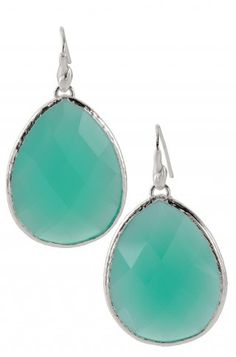 Stella & Dot Serenity Stone Drop Earrings - Aqua