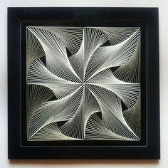 Handmade Home Decor String Art Templates, String Art Patterns, Doily Patterns, Dress Patterns, String Wall Art, Nail String Art, Arte Linear, Art Du Fil, Rope Art