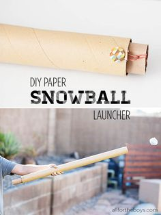 DIY Paper Snowball Launcher from All for the Boys