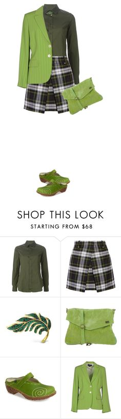 """""""Plaid Skirt"""" by polylana ❤ liked on Polyvore featuring Dsquared2, McQ by Alexander McQueen, Bling Jewelry, TSD12, El Naturalista and Diana Gallesi"""