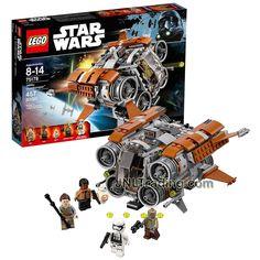 Year 2017 Lego Star Wars Series Set 75178 - JAKKU QUADJUMPER with Rey, Finn, Unkar's Thug, 1st Order Stormtrooper and BB-8 figure (Pieces: 457)