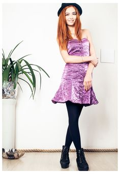 Purple cocktail dress 60s strapless mini dress | Pop Sick | ASOS Marketplace