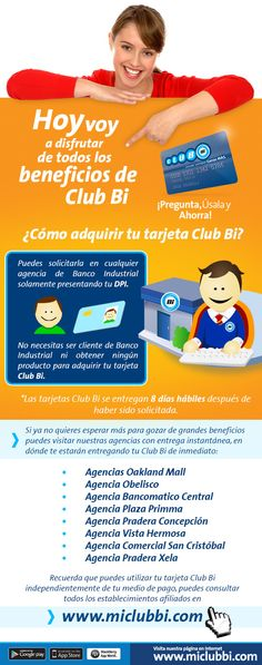 ¡Solicita tu #ClubBi totalmente gratis! #ClubBi #ProductosYServicios #BancoIndustrial