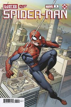 W.E.B. of Spider-Man #1 | Variant cover art by Mark Bagley Marvel Comic Books, Marvel Comics, Marvel Dc, All New Wolverine, Marvel Masterworks, Sea Of Stars, Mark Bagley, What Is Trending Now, Conan The Barbarian