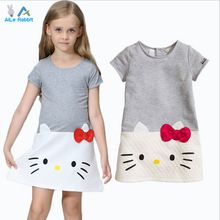 AiLe Rabbit HOT Baby Girls Dresses Hello Kitty 2016 Brand Children Dresses For Girls Princess Dress Christmas Kids Clothes(China (Mainland))