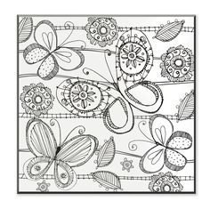 DIY Coloring Wall Plaque Butterfly Painting Print