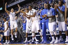 Kentucky Basketball: Why UK Would NOT Be Better Off Losing - A Sea Of Blue. Love this picture of the guys cheering on their team!