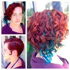 What would this look like *not* asymmetrical? if the side shot with curls was the same on both sides? Asymmetrical Hairstyles, Straight Hairstyles, Wavy Hair 2c, Deva Cut, Curl Pattern, Natural Curls, Diy Hairstyles, Curly Hair Styles, Hair Cuts