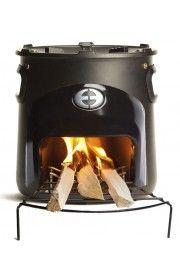 Coox Zwart. Duurzame stove voor  heerlijk buiten koken.http://www.buitenkookproducten.nl