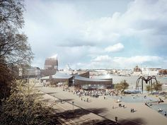 Finalist. GH-04380895. Guggenheim Helsinki Design Competition. Image © courtesy of Guggenheim. Click above to see larger image.