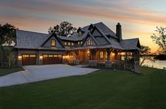 Exterior image from a Stonewood LLC custom home build