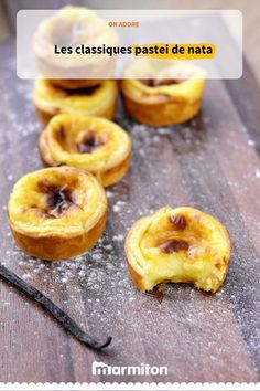 Pastéis de nata, a Portuguese flan recipe on puff pastry. To taste with a little cinnamon if you want De Nata Portuguese Flan Recipe, Superfood, Lactose Free Desserts, Sweet Tarts, Mini Desserts, Quiches, Food Inspiration, Love Food, Food And Drink