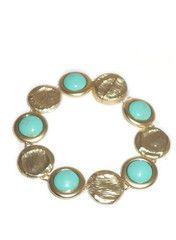 Gold Brushed Flat Beads Bracelet