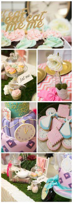 Alice in Wonderland Mad Hatter's Tea Party - 1st Birthday Party, Alice in Wonderland Theme | Created by Melinda DeNicola | Photography by Silvana Metallo