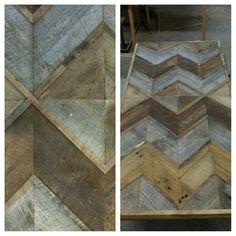 Chevron reclaimed wood art