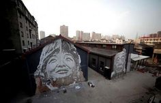 Artist: Vhils | Shanghai, China (For 18 Gallery Exhibition 2013)