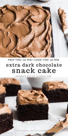 Dark Chocolate Recipes, Chocolate Snacks, Dark Chocolate Cakes, Chocolate Buttercream, Chocolate Espresso, Chocolate Bowls, Sheet Cake Recipes, Frosting Recipes, Espresso Cake Recipe