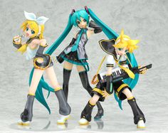 From the Character Vocal Series comes two 1/8 scale PVC figures of the twin Vocaloids, Rin and Len Kagamine! Description from nekomagic.com. I searched for this on bing.com/images