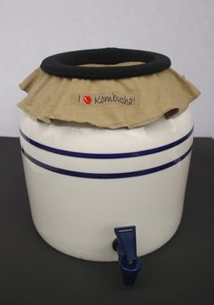 I Love Kombucha EZ On Jar Cover fits 2.5 gallon by SandMatters, $16.95