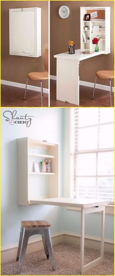 d0579af88b8 DIY Murphy Desk Tutorial - DIY Wall Mounted Desk Free Plans   Instructions  Canto Da Costura