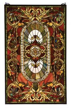 Amazon.com - Victorian Tiffany Nouveau Regal Splendor Stained Glass Window