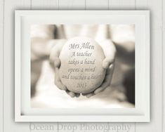Personalized Teacher Gift Teacher Print by OceanDropPhotography