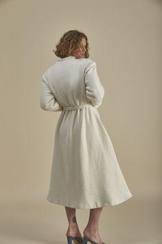 Mother of Pearl Coat Kimono Fashion, High Collar, Butler, Organic Cotton, High Neck Dress, Pearls, Coat, Winter, Sleeves