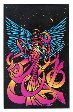 Black Light Poster - Angel - 1997