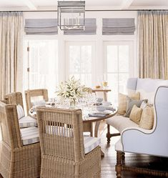 Wicker Chairs with Wing Back Bench