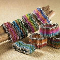 Safety Pin Bracelet Jewelry   Recycled Safety Pin Bracelets