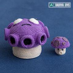 Gloom and Puff shrooms (Plants vs. Zombies) amigurumi pattern by AradiyaToys