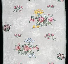 England, Spitalfields    Two Panels from a Dress, c. 1745/46    Silk, plain weave with patterning and brocading wefts- Art Institute of Chicago