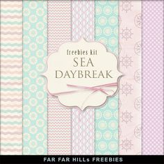 Far Far Hill - Free database of digital illustrations and papers: New Freebies Kit of Paper - Sea Daybreak