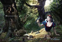 I love these Disney prints by Annie Leibovitz-Rachel Weisz