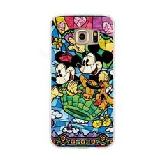 Super cute, unique phone cases in a stained glass style depicting Chip & Dale, Mickey and Minnie, Minnie and Marie from Aristocats. Available for