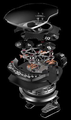 Urwerk UR-105 TA �Turbine Automatic� Watches In Fancy Colors