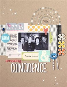 Amazing Coincidence {Studio Calico: May Kit} - Club CK - The Online Community and Scrapbook Club from Creating Keepsakes