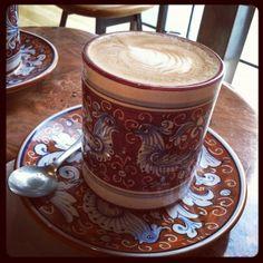 LATTE @ LA COLOMBE. best coffee in the city!