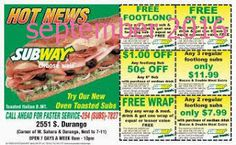 Subway Coupons PROMO expires June 2020 Hurry up for a BIG SAVERS The subway is an international fast-food franchise with more than Free Food Coupons, Free Coupons By Mail, Free Printable Coupons, Grocery Coupons, Love Coupons, Free Printables, Pizza Hut Coupon, Dollar General Couponing, Coupons For Boyfriend