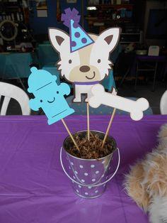 Dog Theme Centerpiece Birthday Party Baby by MyThreeSonsByKristin, $5.00