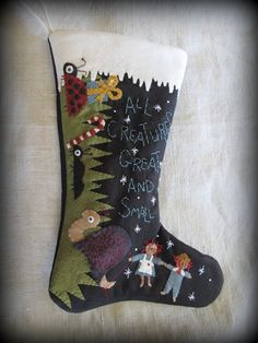 All Creatures Great and Small Christmas Stocking E-PATTERN by cheswickcompany