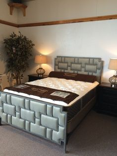 Is your room ready for an update?  This gorgeous bed, or one like it, could be just the modern touch you need.  Come in to see us today and see how we can help you update your space!!