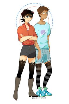 Thigh highs and booty shorts / klance