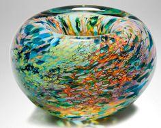 Reef Series - free blown glass by Peter Layton Art Of Glass, Blown Glass Art, Glass Installation, Marble Art, Glass Marbles, Colored Glass, Fused Glass, Art Crafts, Ceramics