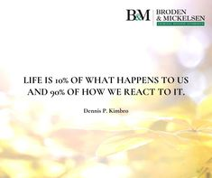 """""""Life is 10% what happens to us and 90% how we react to it."""" – Dennis P. Kimbro Criminal Law, Criminal Defense, Hispanic Men, Texas Department, Federal Law Enforcement, Dallas Morning News, Investigations, Shit Happens, Life"""